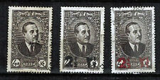 1938.42 - LIBAN - PRESIDENT.EDDE -3X TIMBRES OBL - SURCHAGE - Y/t.153/158/158a