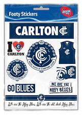 Carlton Blues AFL LOGO Sticker Sheet Car Christmas Birthday Fathers Day Gift
