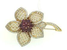 & Ruby Spectacular Money Back Guarantee New listing Diamond Flower Pin with Diamonds