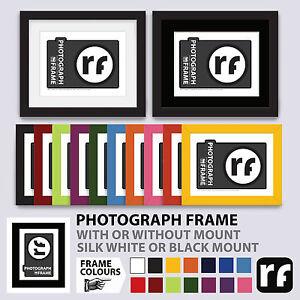 Photograph Frame 6x4 7x5 8x6 10x8 Wood Colours Black White Picture RUBIX FRAMES