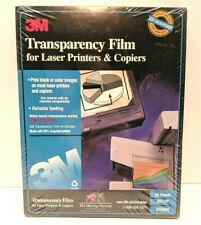 3M Transparency Film CG5000 50 Sheets Laser Plain Copiers New Factory Sealed