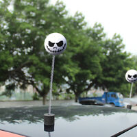 1 × Halloween Skull Car Antenna Topper Aerial Ball Decoration Toy Funny White