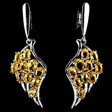Ohrringe Engelsflügel Citrin 925 Silber 585 Weißgold