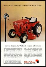 1965 WHEEL HORSE 875 Garden Tractor Riding Lawn Mower Photo AD