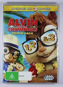 Alvin and the Chipmunks Triple Pack DVD FREE POST