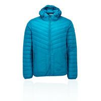 Jack Wolfskin Mens Vista Down Jacket Top Blue Sports Outdoors Full Zip Hooded