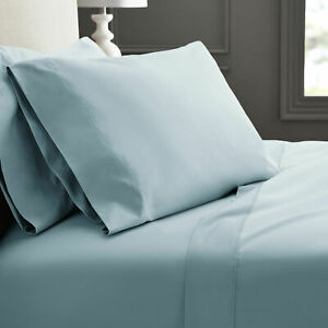 Hotel Style 600 Thread Count 100% Luxury Cotton Sheet Set, King, Blue Puddle