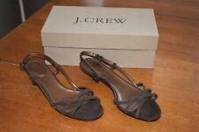 Women's Brown J. Crew Lucie Kitten Heels / Sandals - Size 7.5