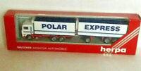 Herpa -HO-1:87, 839012- LKW mit Polar Express- Werbung