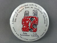 Vintage Aids Pin - First Nations Awareness Promo - Celluloid Pin