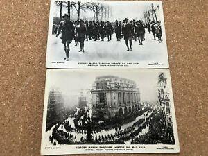WW1 AUSTRALIAN VICTORY PARADE LONDON POSTCARDS