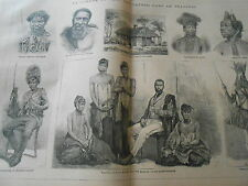 Gravure 1878 La guerre au pays des Cafres dans le Transkeï
