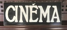 CINEMA French Home Decor THEATER Media MoVie ROOM Sign Plaque HP You Pick Color