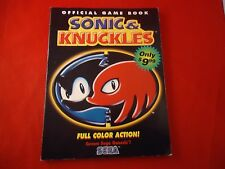 Sonic & and an Knuckles Sega Genesis Strategy Guide Player's Hint Book #B1