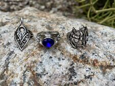 Lot of 3 Elven Rings Elrond Lord of the Rings Hobbit Combo Lotr