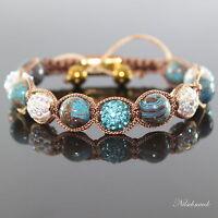 Damen Blue Autum Shambala Armband Natursteine Zircon Kristall für Frauen