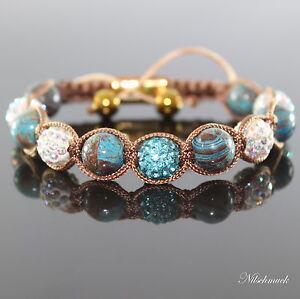 Damen blau Autum Lapis Shambala Armband Natursteine Zircon Kristall für Frauen