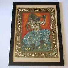 IRENE AWRET LITHOGRAPH PEACE ABSTRACT MODERNISM LISTED SIGNED LIMITED EDITION