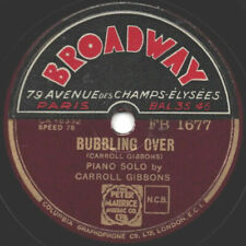 """78er Piano-Swing Carroll Gibbons """"Bubbling Over / Moonbeams Dance"""""""