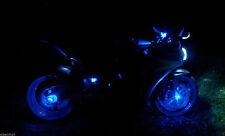Blue 12V LED Motorcycle Accent Glow Street Bike Show Light Brake Reservoir Azul