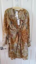 NWT Rene Lezard Taupe Silk Jacket - Size 42/12