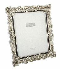 Floral Antique Silver Photo Frame 8 X 10