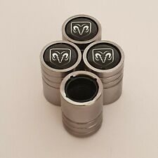 DODGE DUST VALVE CAPS al Cars 13 colours NON STICK LIGHT GREY Nitro Charger Ram