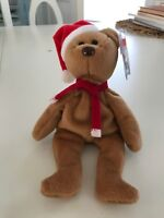 TY Beanie Baby Babies -- 1997 Holiday Teddy Bear --  Retired - MWMT