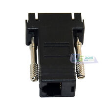 VGA DB15P Male to LAN CAT5/T6 RJ45 Female Network Cable Cord Adapter Connectors