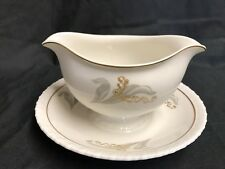 "Hanover ""ENCHANTMENT"" ~ Lily of the Valley ~ Gravy Boat w/Attached Underplate"