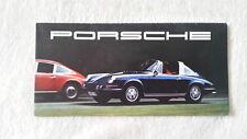 32a 47 1968 Porsche 911t 911e 911s 912 Coupé TARGA PROSPECTO FOLLETO Alemán