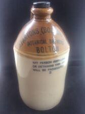 Stoneware Cider Flagon Advertising Stanton's Bolton Botanical Brewery & Stopper