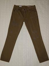 GAP 2015 – Size 27 – GIRLFRIEND Army Green Surplus Destroy Denim Jeans – #U720