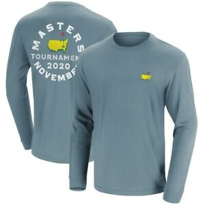 2020 Masters November Long Sleeve T-Shirt -- STEEL -- MEDIUM