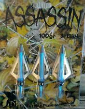 6 x Broadhead Arrow Archery Bow Hunting Fixed Blade 100gr Drake Assassin