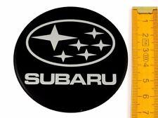 SUBARU ★ 4 Stück ★ SILIKON Ø70mm Aufkleber Emblem Felgenaufkleber Radkappen