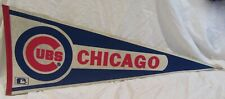 """1970s Chicago Cubs Baseball Vintage MLB Collectible Pennant 30 x 12"""""""
