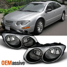 1999-2004 Chrysler 300M  Replacement Clear Headlights Headlamps Left + Right Set