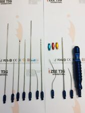 Liposuction Cannula Set Of 10 Cannula With Handle And 3 Anaerobic Fat Transfer