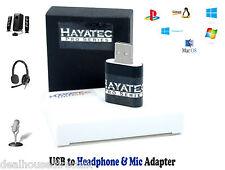 3.5 mm MINI JACK AURICOLARE MIC PER USB STEREO AUDIO SOUND ADATTATORE PC alta qualità del Regno Unito