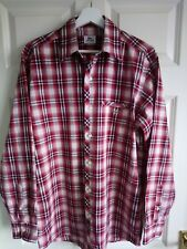 """Lacoste Cotton Shirt - Size 40 - Approx 40"""" Chest - Red Check"""