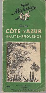 Guide Vert MICHELIN - Côte d'AZUR, Haute-Provence 1948