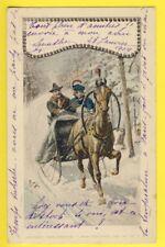 "Sport Postkarte ALLEMAGNE NÜRNBERG Theo STROEFER Traineau Neige à ""De BOISSIEU"""