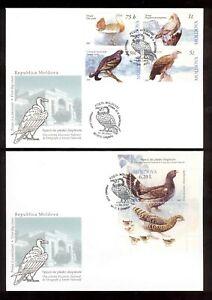 Moldova  2007  Birds  2 FDCs