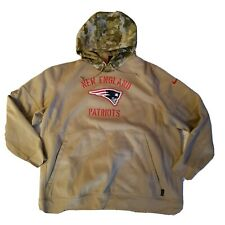 New England Patriots Nike Camo Salute to Service Athletic Hooded Sweatshirt Xxl