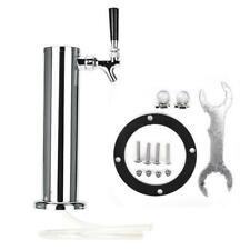 Draft Beer Tower Tap Triple Faucet Stainless Steel Homebrew Bar Fit Kegerator