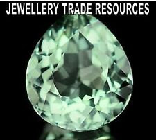 NATURAL GREEN AMETHYST PEAR CUT 11mm x 10mm GEM GEMSTONE