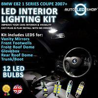 BMW E82 1 SERIES 2DR LED INTERIOR UPGRADE COMPLETE KIT SET BULB XENON WHITE COUP