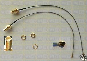 """2 8"""" Mini PCI U.FL / IPX to RP-SMA Antenna WiFi Pigtail Cable"""