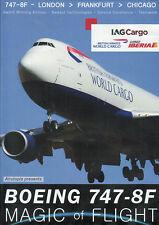 Boeing 747-8F Cockpit Magic of Flight London Frankfurt Chicago DVD